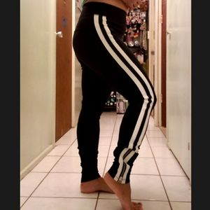 Spiritual Gangster Striped workout pants